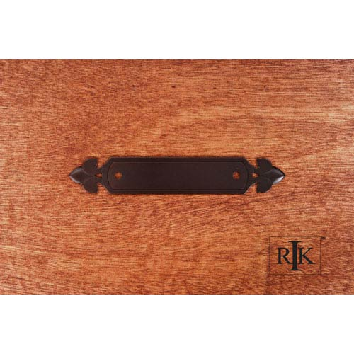 RK International Inc Oil Rubbed Bronze Backplate with Spade Ends