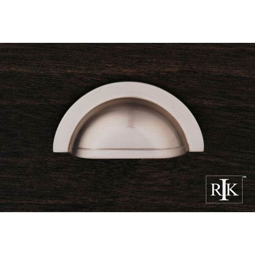 RK International Inc Pewter Smooth Half Circle Cup Pull