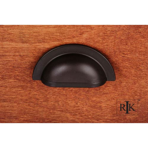 Oil Rubbed Bronze Smooth Half Circle Cup Pull