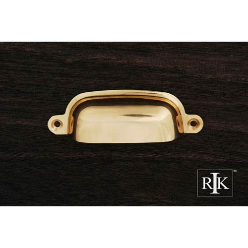 RK International Inc Polished Brass Flat Box Cup Pull