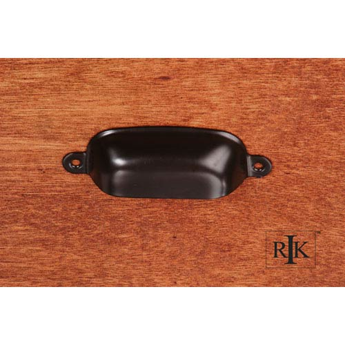 Oil Rubbed Bronze Flat Box Cup Pull