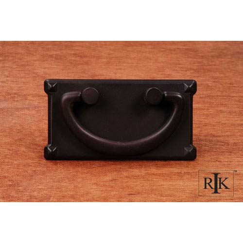 RK International Inc Oil Rubbed Bronze Rectangular Plated Bail Pull