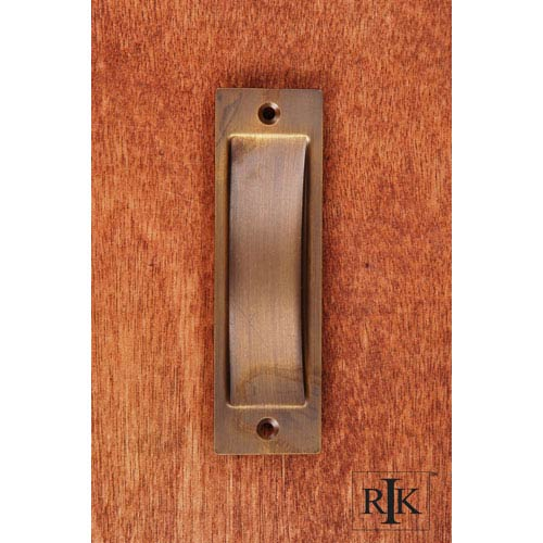 Antique English Thin Rectangle Flush Pull