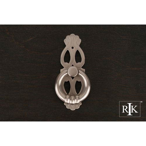 Pewter 1 Inch Ring with Ornate Plate