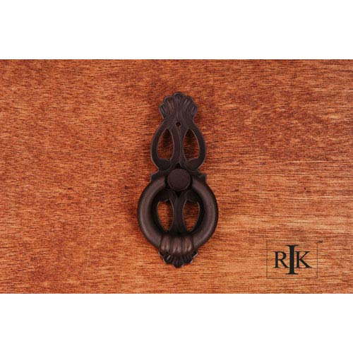 RK International Inc Oil Rubbed Bronze 1 Inch Ring with Ornate Plate