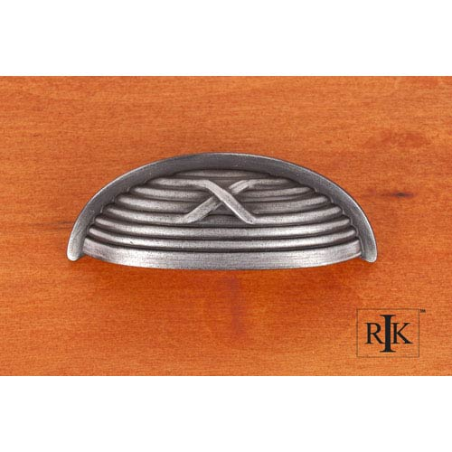 RK International Inc Distressed Nickel Lines and Single Cross Rounded Cup Pull