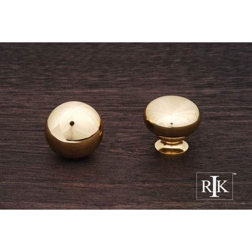 RK International Inc Polished Brass Mushroom Knob