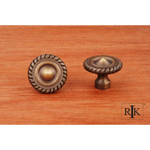 RK International Inc Antique English Rope at Edge Knob