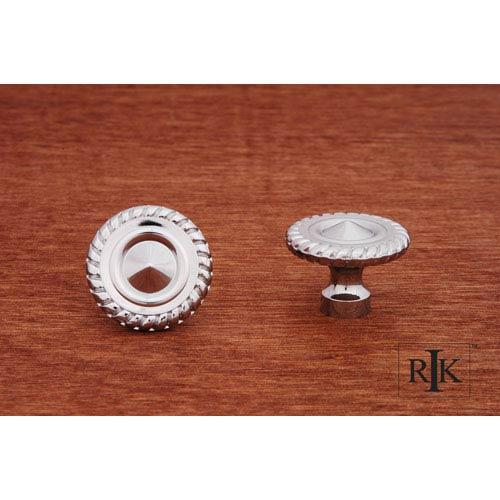 RK International Inc Chrome Rope at Edge Knob