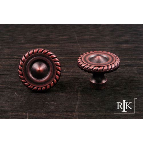 RK International Inc Distressed Copper Rope at Edge Knob