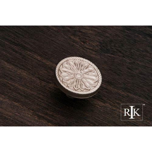 RK International Inc Pewter Flower Knob