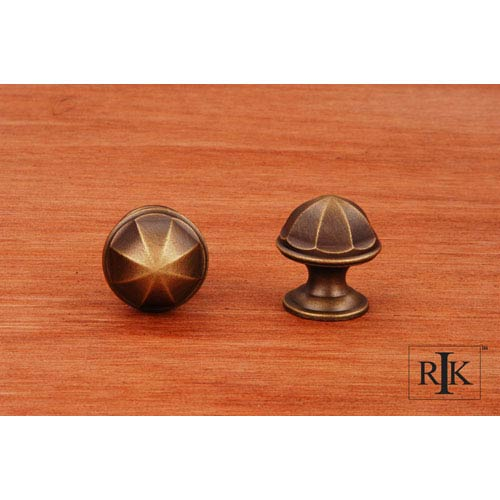 RK International Inc Antique English Contoured Dome Knob