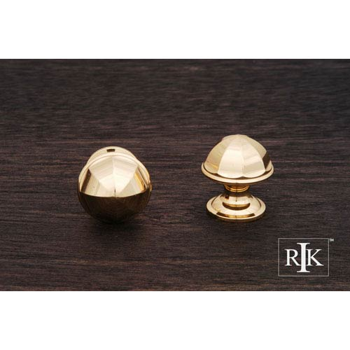 RK International Inc Polished Brass Contoured Dome Knob
