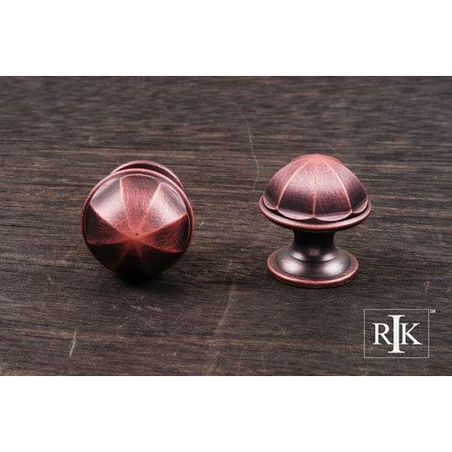 Distressed Copper Contoured Dome Knob