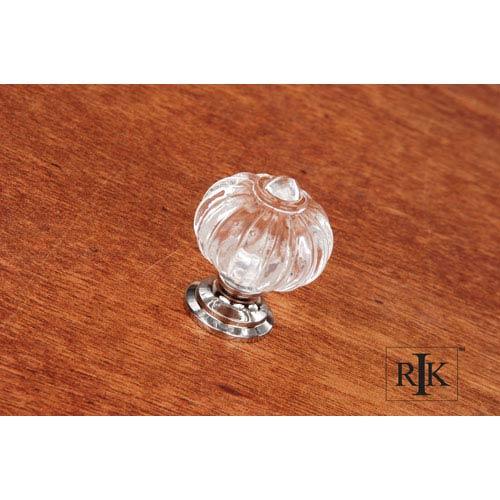 RK International Inc Chrome Acrylic Flower Knob