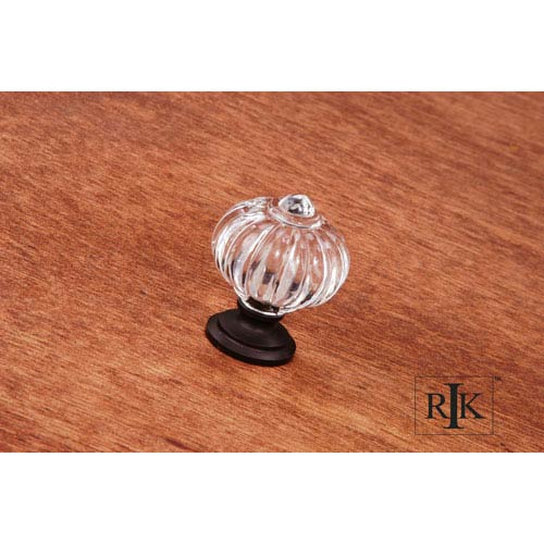 RK International Inc Oil Rubbed Bronze Acrylic Flower Knob