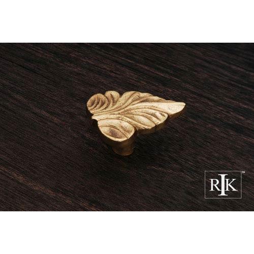 RK International Inc Polished Brass Leaf Knob