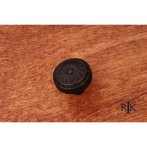 Oil Rubbed Bronze Flowery Ornate Knob