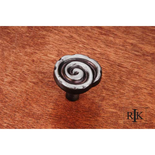 RK International Inc Distressed Nickel Swirl Knob
