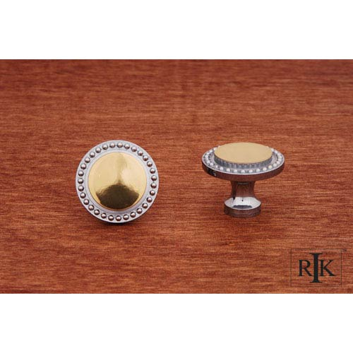 RK International Inc Chrome and Brass Beaded Knob