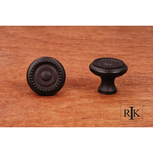 RK International Inc Oil Rubbed Bronze Beaded Knob with Tip
