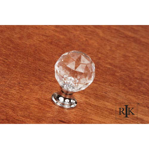 RK International Inc Chrome Acrylic Hammered Knob