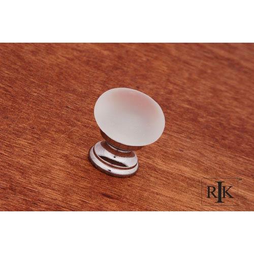 Chrome Smoked Glass Round Knob
