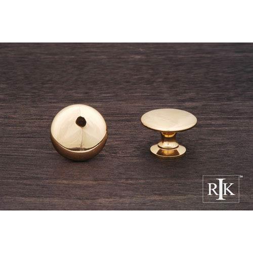 RK International Inc Polished Brass Flat Face Knob