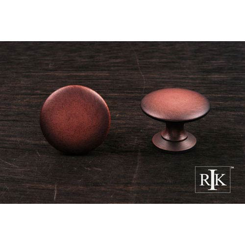 Distressed Copper Flat Face Knob