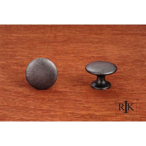 RK International Inc Distressed Nickel Flat Face Knob