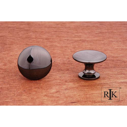 RK International Inc Black Nickel Flat Face Knob