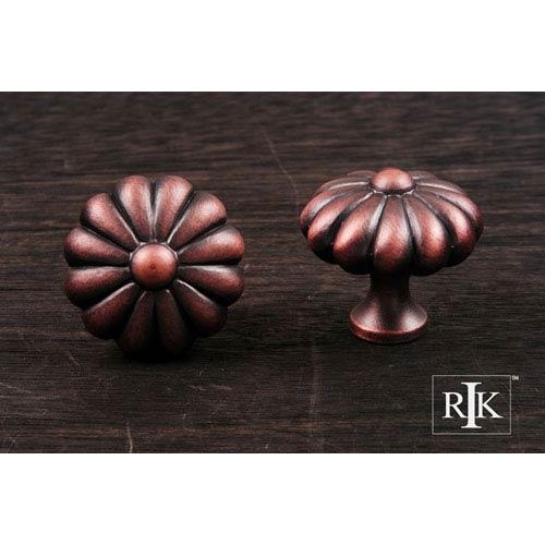 RK International Inc Distressed Copper Melon Knob