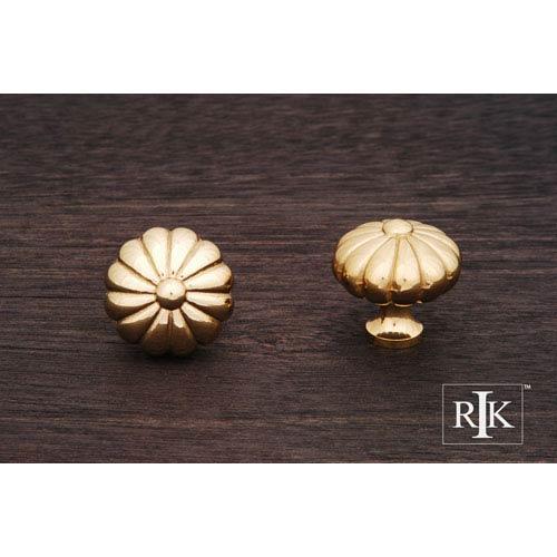 RK International Inc Polished Brass Melon Knob