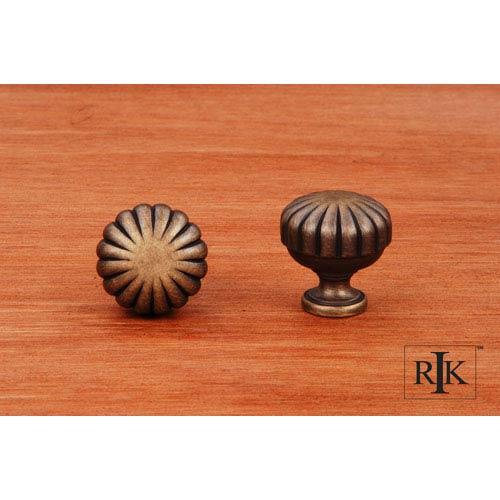 RK International Inc Antique English Smooth Melon Knob