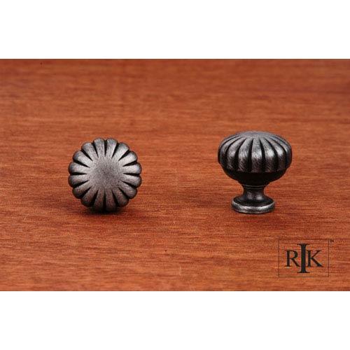 RK International Inc Distressed Nickel Smooth Melon Knob