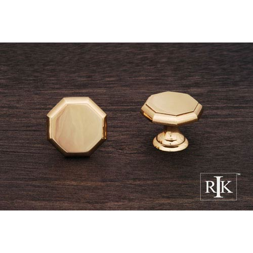 Polished Brass Octagonal Knob
