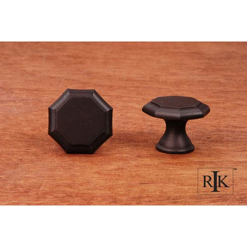 Oil Rubbed Bronze Octagonal Knob