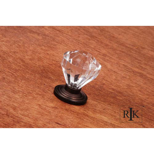 Oil Rubbed Bronze Diamond Cut Acrylic Knob
