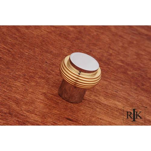Chrome and Brass Solid Swirl Rod Knob