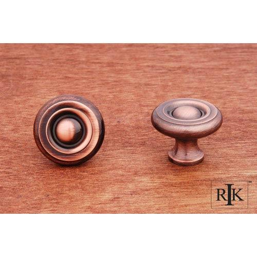 RK International Inc Antique Copper Solid Georgian Knob