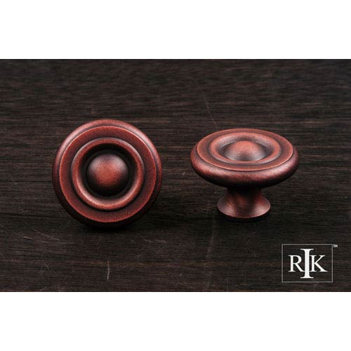 RK International Inc Distressed Copper Solid Georgian Knob