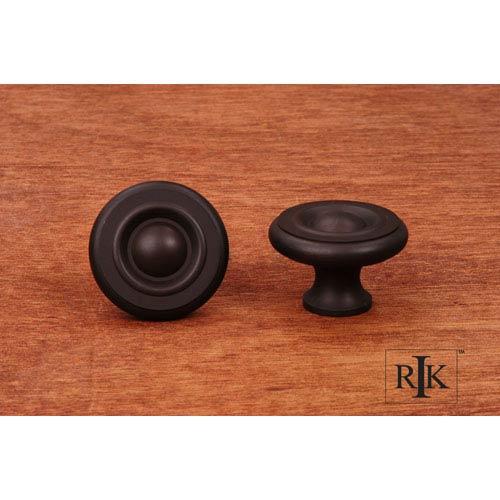 RK International Inc Oil Rubbed Bronze Solid Georgian Knob