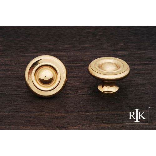 RK International Inc Polished Brass Solid Georgian Knob