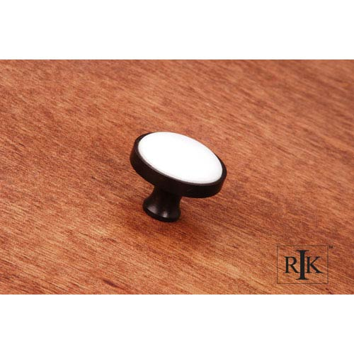 Oil Rubbed Bronze Porcelain Oil Rubbed and White Knob