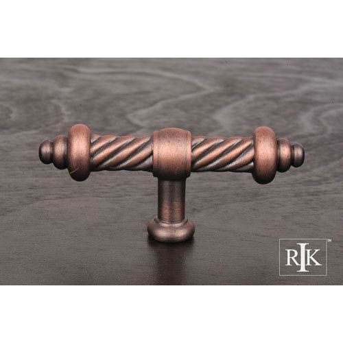 RK International Inc Distressed Copper Large Twisted Knob