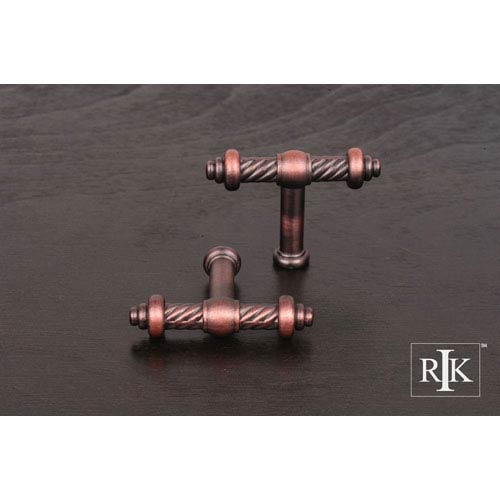 RK International Inc Distressed Copper Small Twisted Knob