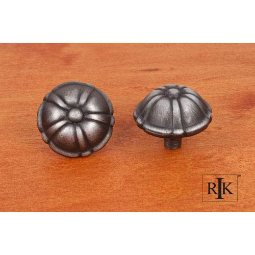 RK International Inc Distressed Nickel Large Petal Knob