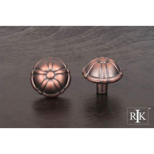 Distressed Copper Small Petal Knob