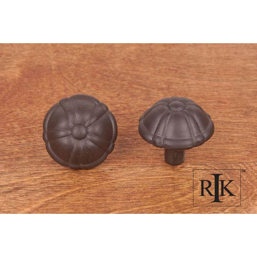 RK International Inc Oil Rubbed Bronze Small Petal Knob