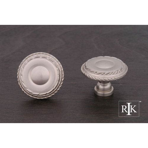RK International Inc Pewter Large Double Roped Edge Knob